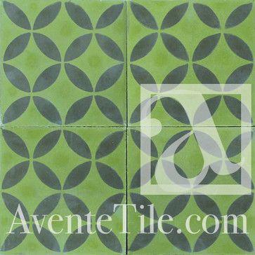 Geometric Geo 10 Cement Tile 8 x 8 contemporary floor tiles