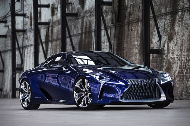 Lexus LF-LC Blue Concept. Nice, yes. But when I think Lexus, I think matronly drivers.