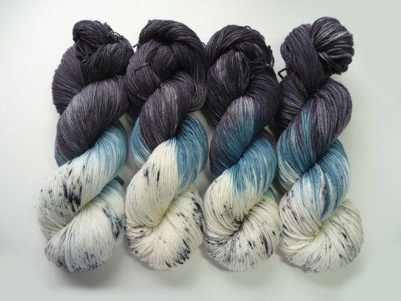 Hand Dyed Speckled Sock Yarn Superwash Merino by TheSheepyshire                                                                                                                                                                                 More