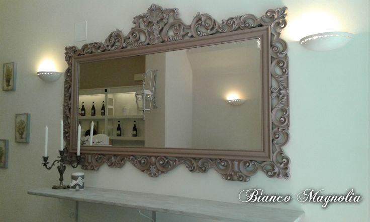 grande specchio barocco patinato per allestimento negozio