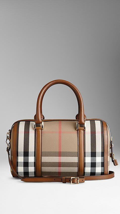 Medium Sartorial House Check Bowling Bag | Burberry
