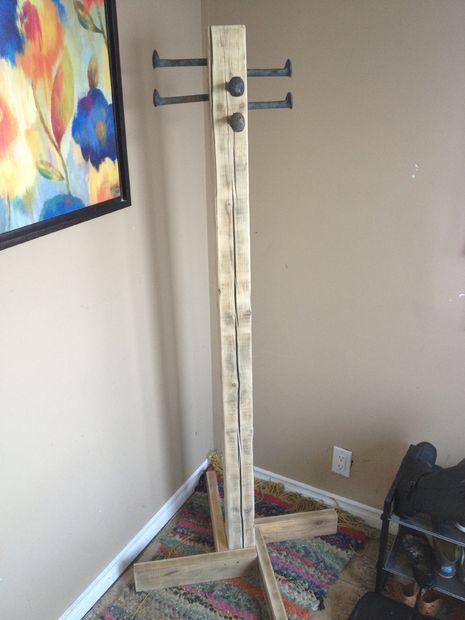 Picture of coat rack out of scrap