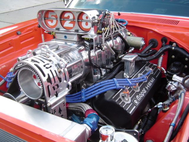 Picture Of Hemi With Blower 1968 Blown Fuel Injected 528