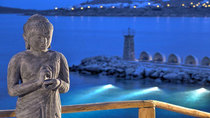 Buddha Bar Beach Santa Marina, Mykonos #Lighthouse view