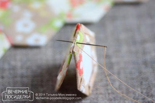 Миникосметичка и немного о сшивании лоскутков / Mini cosmetic bag - Вечерние посиделки