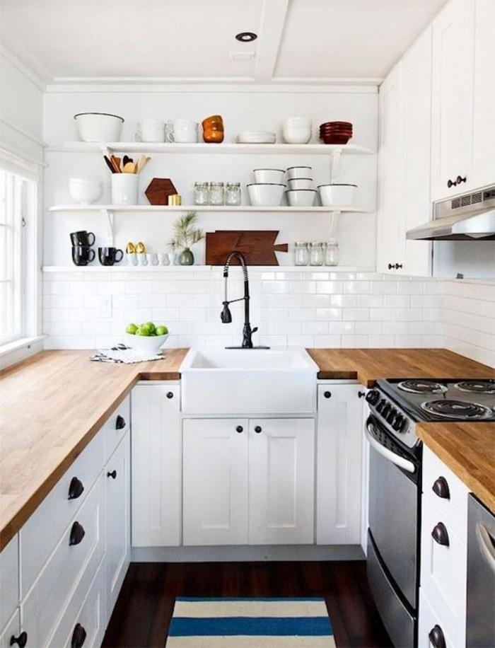 Les 25 meilleures idées de la catégorie Cuisine blanche et bois ...