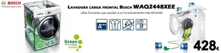 Lavadora de carga frontal Bosch ahora con 49% de descuento http://www.esmio.es/blog/lavadora-de-carga-frontal-bosch/