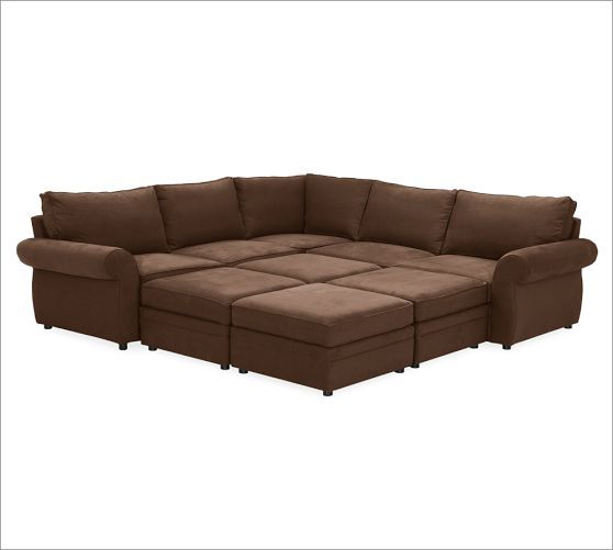 Pearce 6 piece family sectional pottery barn jackson for Best sectional sofa for family
