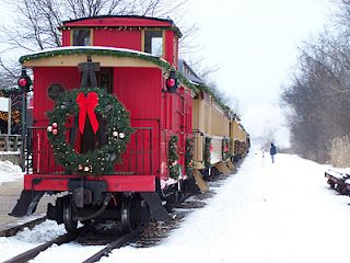 I would like a caboose for Christmas, perfavore - don't worry about the wreath, I'm low maintenance and I'll make my own!