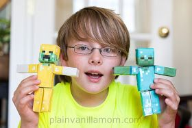 Plain Vanilla Mom: Minecraft Papercraft Studio