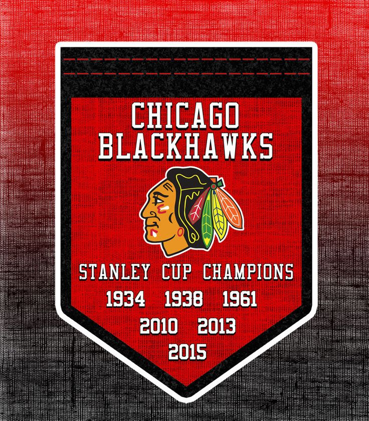 CHICAGO BLACKHAWKS 2015 STANLEY CUP CHAMPIONS BANNER DECAL STICKER 6 TIME CHAMPS #ChicagoBlackhawks #blackhawks #stanleycupchampions