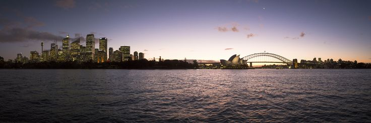 A magnificient cityscape of Sydney captured at the sunset, after a big rainstorm.