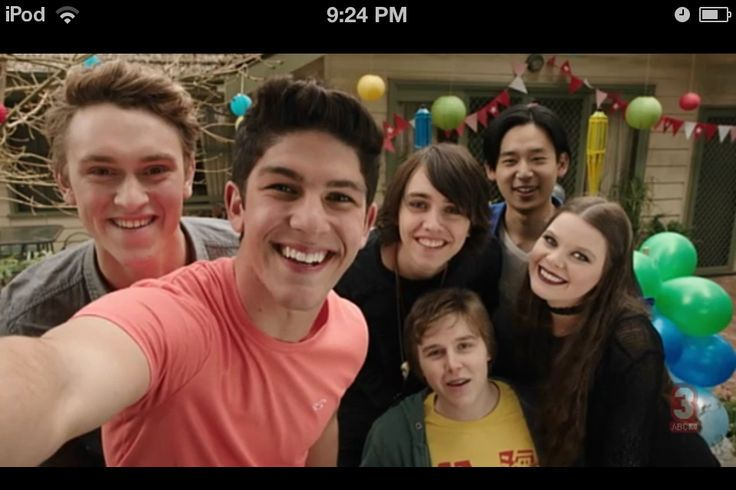 This is a photo of the cast from the last episode of Nowhere Boys Season 2.