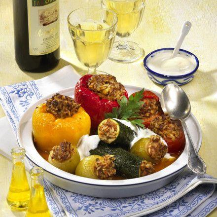 Bunte Dolma (Gefülltes Gemüse) Rezept