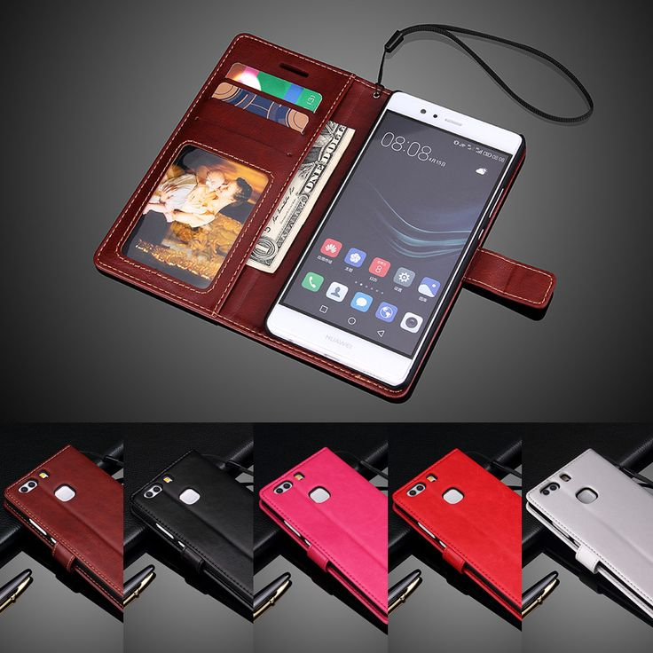 "Luxury PU Leather Cover For Huawei P9 Plus Dual P 9 Plus Case 5.5"" Flip Protective Phone Back Cover Skin"