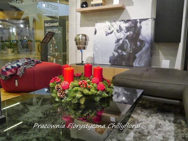 Pracownia Florystyczna Chillyfloral: DEKORACJE ŚWIĄTECZNE W BOCONCEPT DOMOTEKA BOCONCEPT WORONICZA