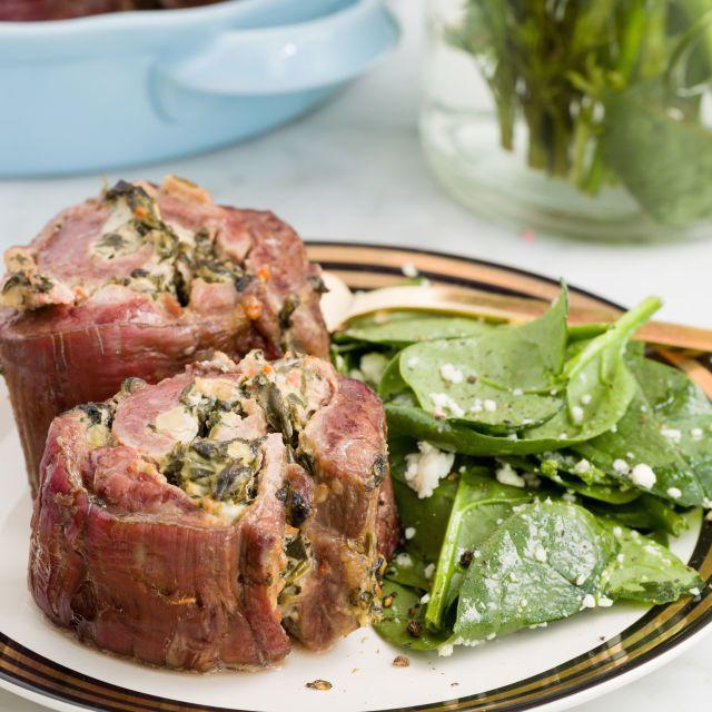 Best Spinach-and-Artichoke Steak Roll-Ups Recipe - How to Make Spinach-and-Artichoke Steak Roll-Ups