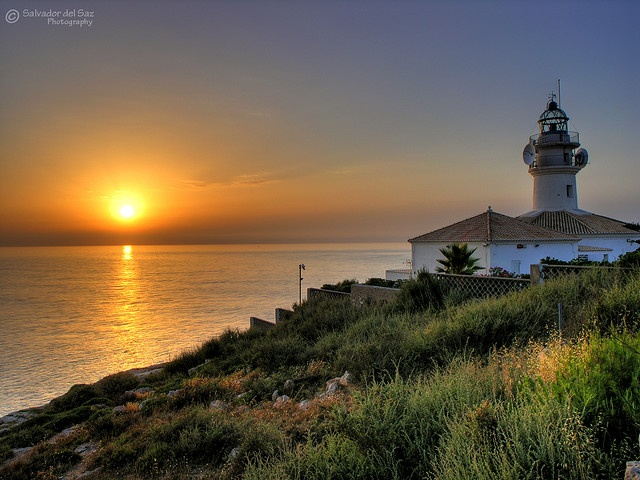 Lighthouse of Cullera, Valencia (Spain).