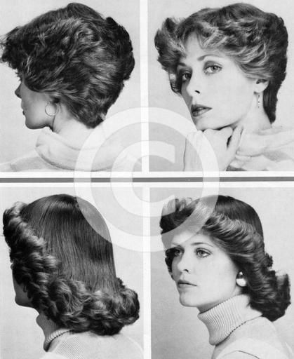 1970s hairstyles for women. Yikes - I think I sported both of these looks!