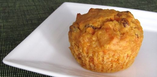 carrot and sultana muffin