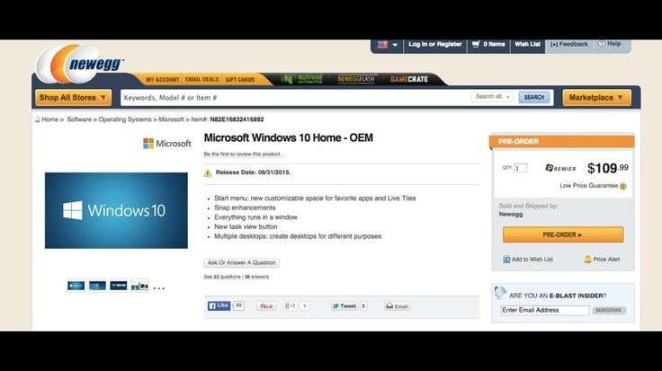 Windows 10 release date and price leaked | The online computer hardware and software store Newegg has posted the release date and US pricing of the highly anticipated Windows 10 operating system. Buying advice from the leading technology site
