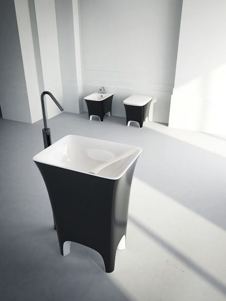 Lavabo COW centro stanza Bianco Nero