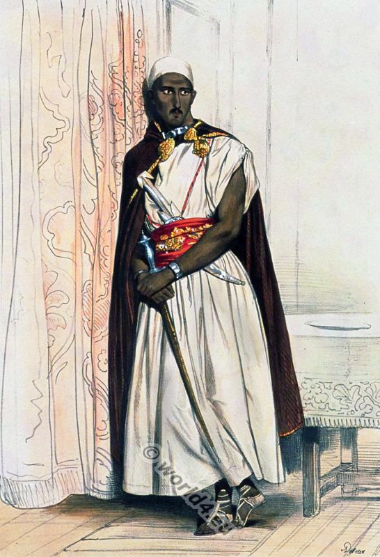 Traditional Arab dress. Arabian Nobelman clothing. Saracen ...
