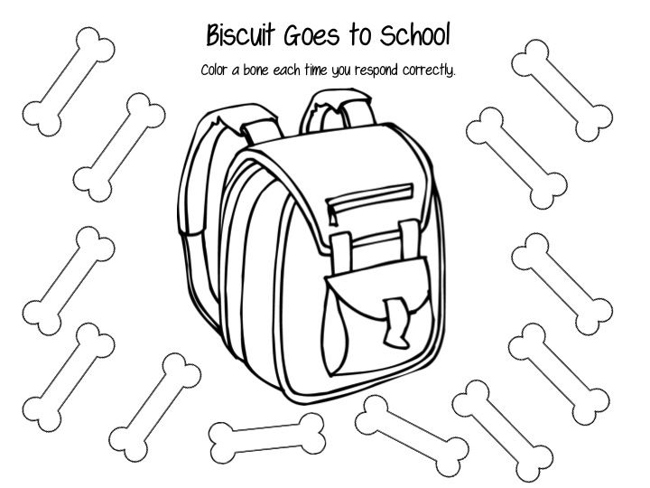 Biscuit Goes To School Coloring Page Sketch Coloring Page
