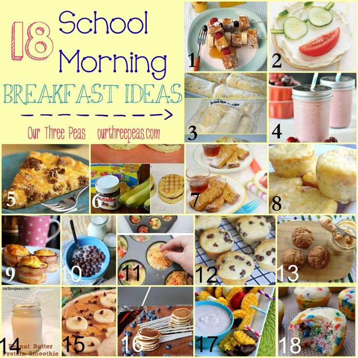 18 School Morning Breakfast Ideas {round up} - Our Three Peas