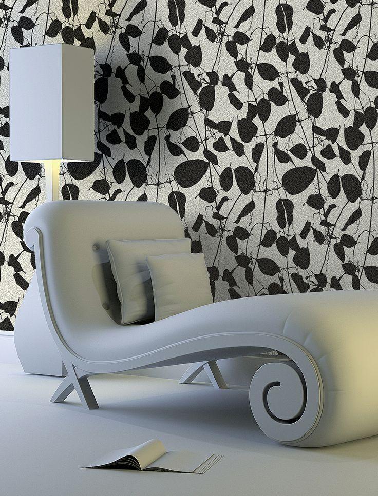 Jaypur #wallpaper collection: balck & white fashion design #maxmartinihome #wallcoverings