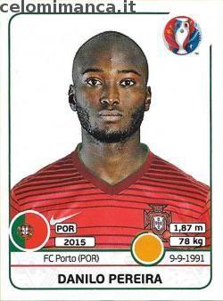 UEFA EURO 2016™ Official Sticker Album: Fronte Figurina n. 586 Danilo Pereira