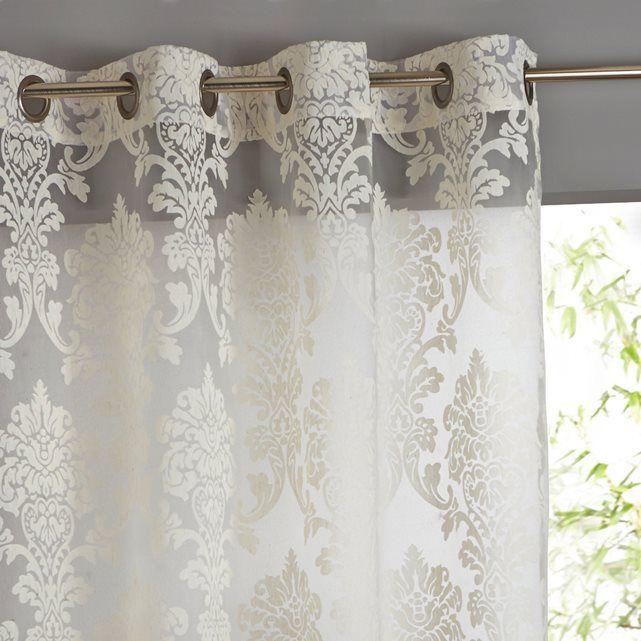 Vorhang, Jacquard. Dieser wundervolle Vorhang fängt das Licht besonders schön ein und eignet sich hervorragend für eine wirkungsvolle Deko. Aufhängung mit Metallösen in Antikoptik.Gesäumter Abschluss.Jacquard aus 60% Polyester, 30% Viskose, 10% Leinen.Maschinenwäsche max. 40°C. Weitere Vorhänge finden Sie auf laredoute.ch