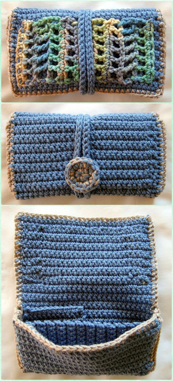 Crochet Clutch Wallet Free Pattern - Crochet Clutch Bag & Purse Free Pattern