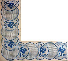 crochet em revista: Ponta com canto