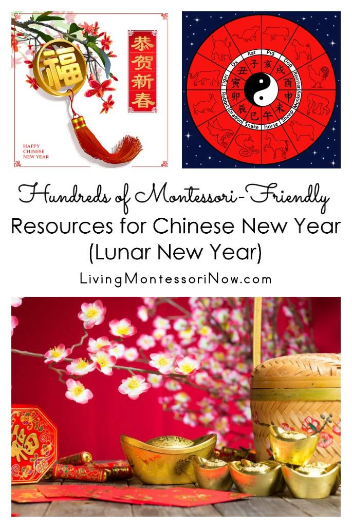 Hundreds of resources that can be used for creating Montessori-inspired Chinese New Year (Lunar New Year) activities and celebrations; perfect for observing the Lunar New Year for a variety of ages in the classroom or at home - Living Montessori Now #Montessori #homeschool #preschool #kindergarten #ChineseNewYear #LunarNewYear