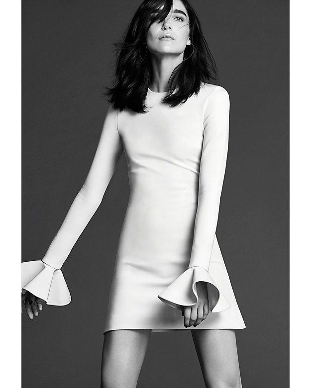 David Koma Peplum Sleeve Mini Dress   Shop IntermixOnline.com