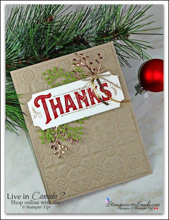 Warm Hearted Christmas Thank You - 2018 Holiday Catalog