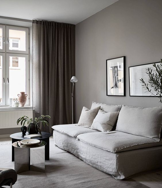 Kunskapstavlan likes! - Soft and comfortable in this living room thanks to these nice shades of warm grey and beige - Scandinavian interior