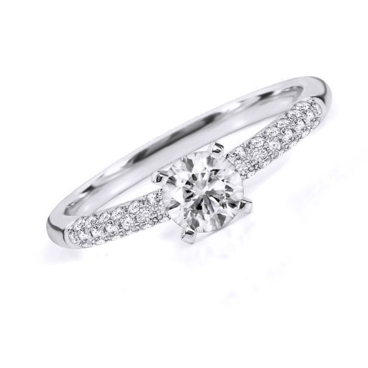 0.30ct D/ VVS1 Semi-Mount Engagement Ring in 10k Solid White Gold Bridal Jewelry #Affinityhomeshoping #SolitairewithAccents
