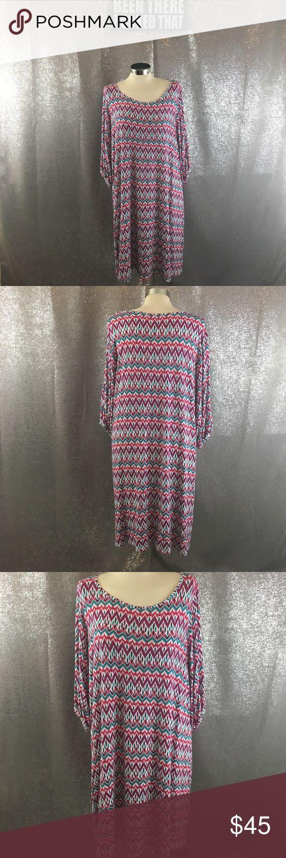 Market & spruce chevron print dress stitch fix Excellent condition, no pilling Market & Spruce Dresses