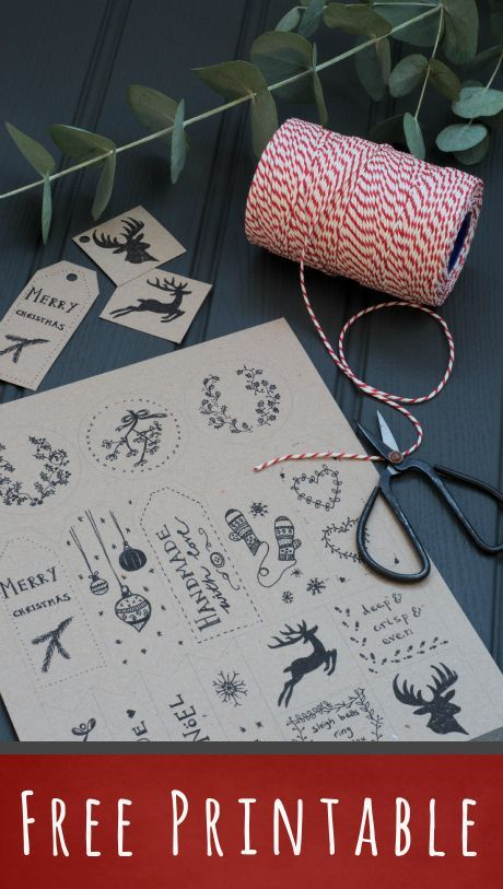 free holiday gift tags to download and print | Decorator's Notebook blog: