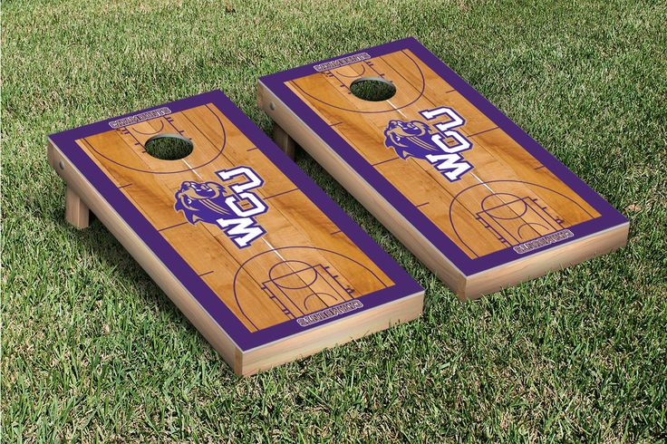 Our 	Western Carolina University Catamounts Cornhole Game Set Basketball Wooden . Get your custom set at victorytailgate.com
