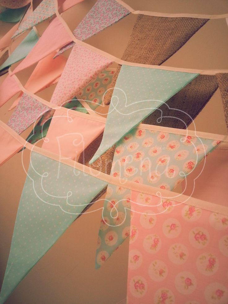 Banderines De Tela Decorativos!!! - $ 60,00 en MercadoLibre