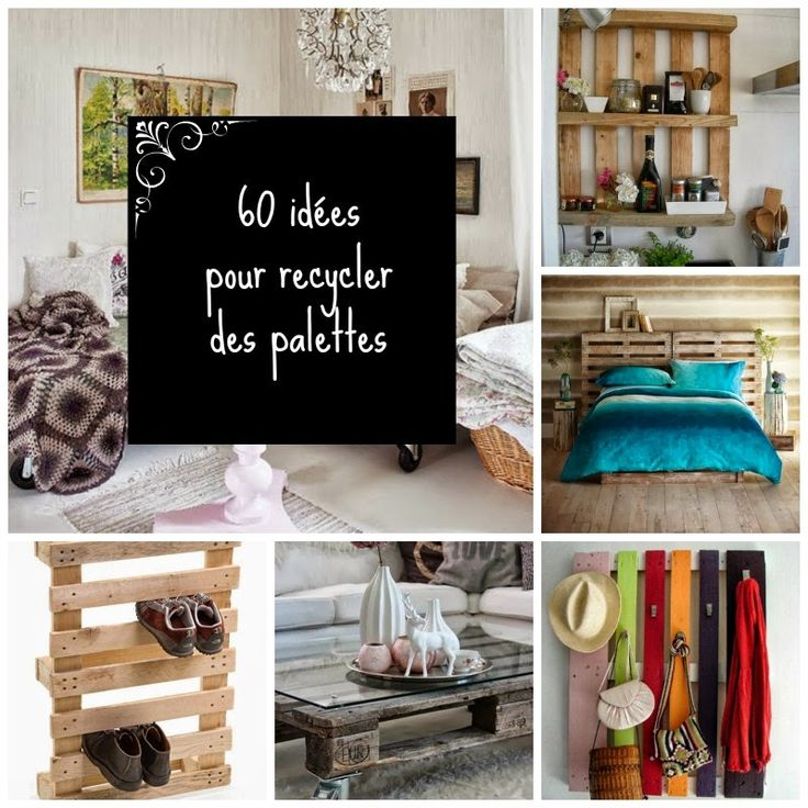 60 id es pour recycler des palettes gardens bracelets and home. Black Bedroom Furniture Sets. Home Design Ideas