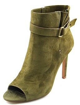 BCBGeneration Carolena Women Peep-toe Suede Green Ankle Boot.