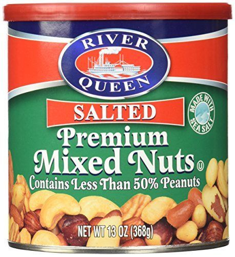 River Queen Premium Salted Mixed Nuts, 13 Ounce.