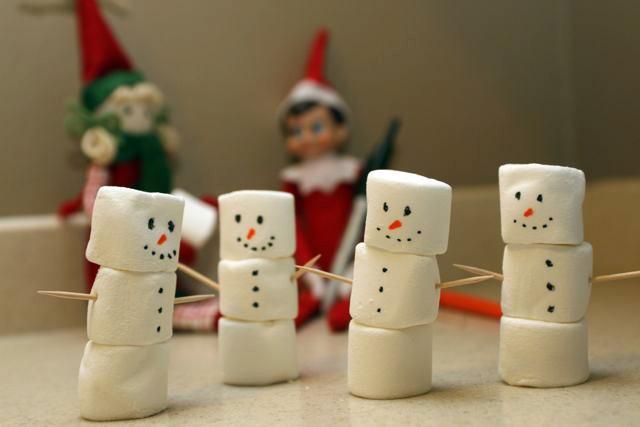 Guimauve bonhommes de neige
