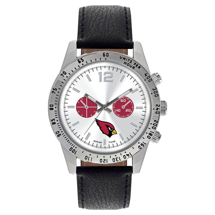 Men's Game Time NFL Letterman Sports Watch - Black - Arizona Cardinals