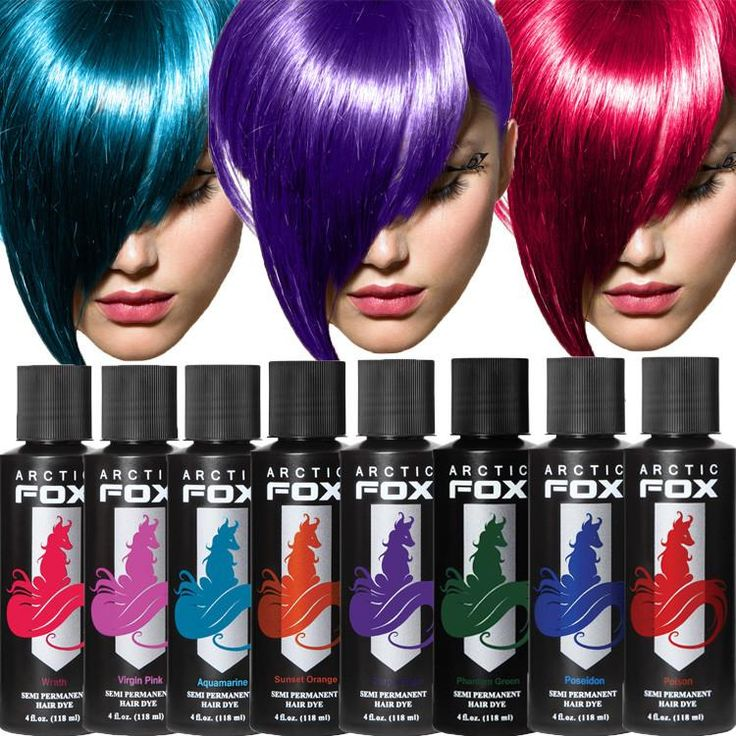 """Arctic Fox Hair Colors are """"semi-permanent"""" hair dyes that are made only from Vegan ingredients. 100% Vegan, No Animal By-products,..."""