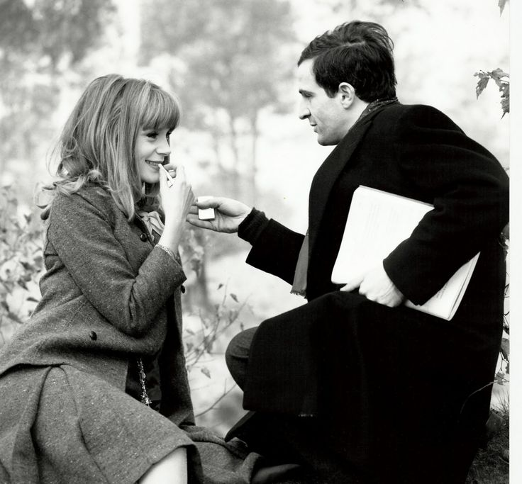 François Truffaut and Françoise Dorléac